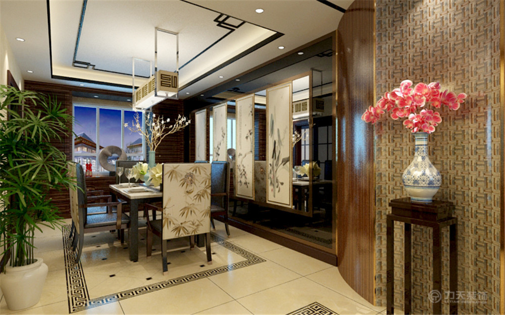 中式风格 三居 白领 收纳 80后 小资 餐厅图片来自阳光放扉er在红城-149.1㎡-中式风格的分享