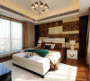 卧室背景墙采用花格,一方面应采光之需,另一方面符合苏州园林设计中分割与沟通的同意的设计手法。