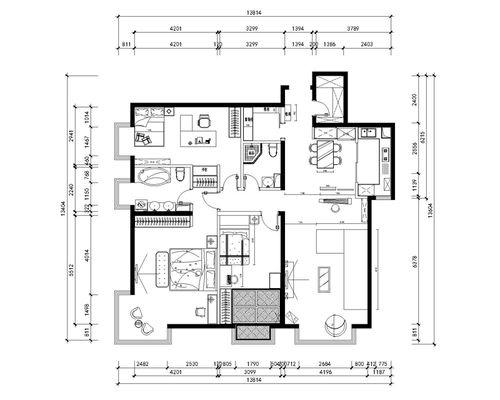 日升装饰 户型图图片来自装修设计芳芳在丰禾壹号140现代三居的分享