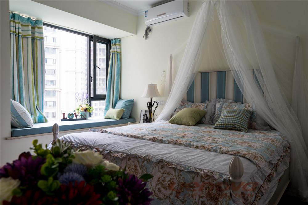 卧室图片来自成都业之峰装修小管家在天府世家113平地中海风格的分享