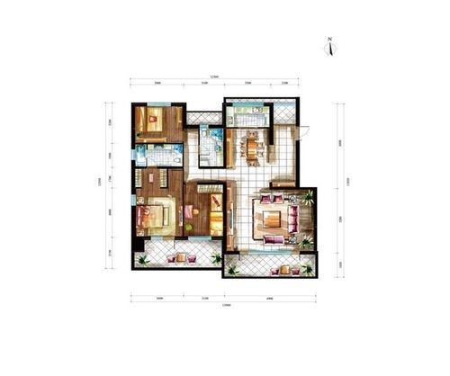 日升装饰 户型图图片来自装修设计芳芳在恒基碧翠锦华130新古典3居的分享