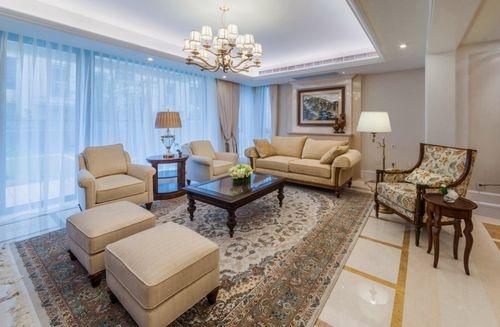 日升装饰 客厅图片来自装修设计芳芳在金泰假日花城美式四居的分享