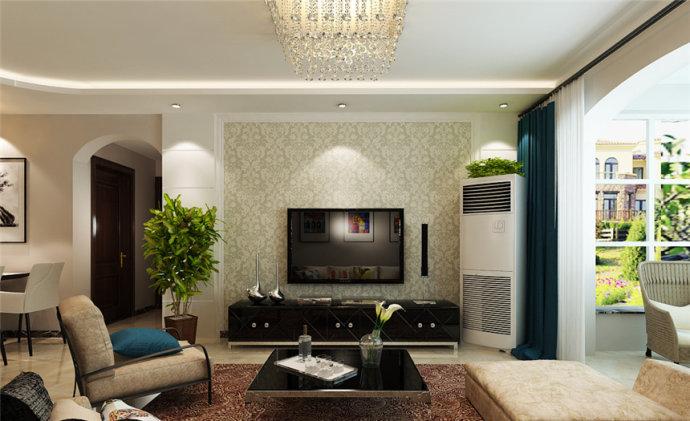 润城 现代 两居 家装 整体 客厅图片来自郑州实创装饰啊静在润城89平现代两居的分享