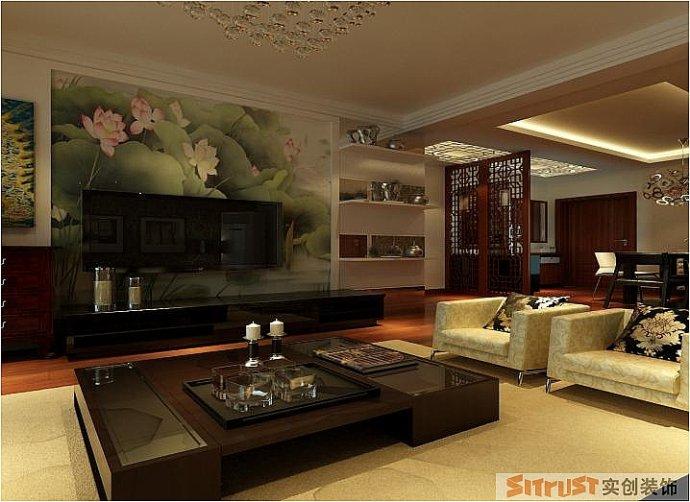 正商华钻 中式 两居 家装 整体 客厅图片来自郑州实创装饰啊静在正商华钻90平中式两居的分享