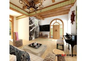 混搭 别墅 小清新 80后 白领 客厅图片来自百家装饰杨乐乐在碧桂园景园的分享