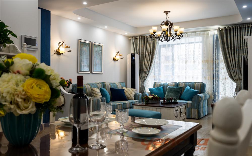 沙发 客厅图片来自成都业之峰装修小管家在天府世家113平地中海风格的分享