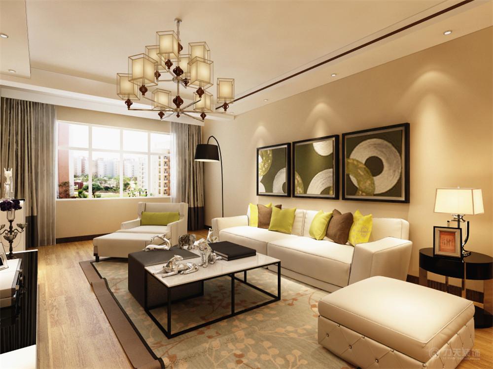 简约 田园 混搭 三居 白领 收纳 小资 客厅图片来自阳光力天装饰在力天装饰-保利玫瑰湾128㎡的分享