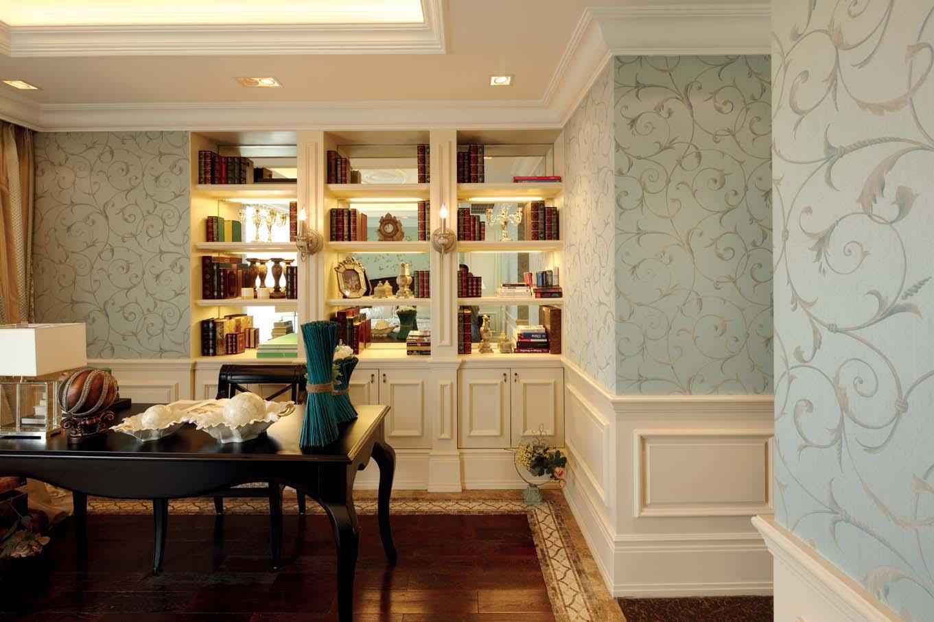 欧式风格 北京装修 装修风格 室内设计 装修设计 书房图片来自别墅装修设计yan在欧式风格鸿坤·林语墅的分享