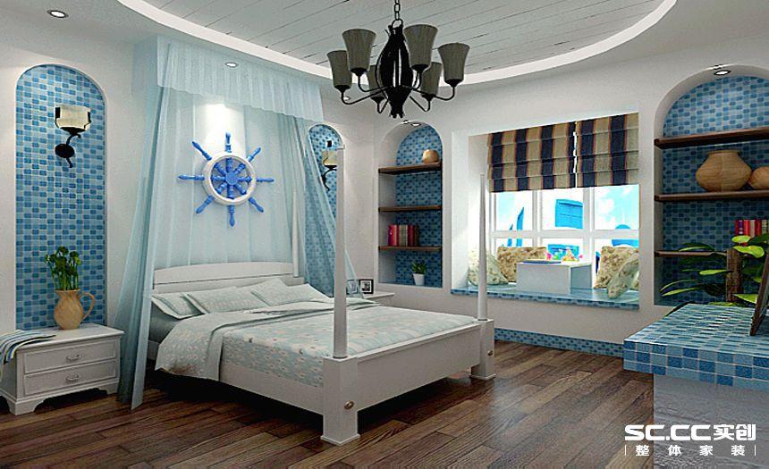 三居 白领 地中海装修 清新 卧室图片来自孙进进在120平小三房清新地中海的分享