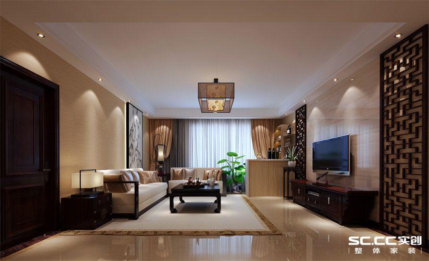简约 中式 三居 白领 收纳 80后 小资 客厅图片来自实创装饰百灵在撷古涵今新中式148世华龙樾装修的分享