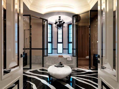 日升装饰 卫生间图片来自装修设计芳芳在恒基碧翠锦华130新古典3居的分享