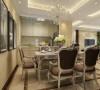 所有的家具都用简化线条美感的的欧式家具,整体感觉让人觉得很舒服。