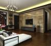 这次风格的设计整体色调简洁大方,给人大气沉稳,又不失温暖舒适的感觉,所以客厅入户用中式木栅的吊顶,客厅电视墙大理石,沙发背景墙中式的画布