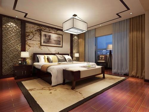 日升装饰 卧室图片来自装修设计芳芳在汇林·U家公馆中式别墅的分享