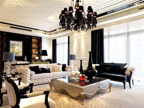 日升装饰 客厅图片来自装修设计芳芳在恒基碧翠锦华130新古典3居的分享