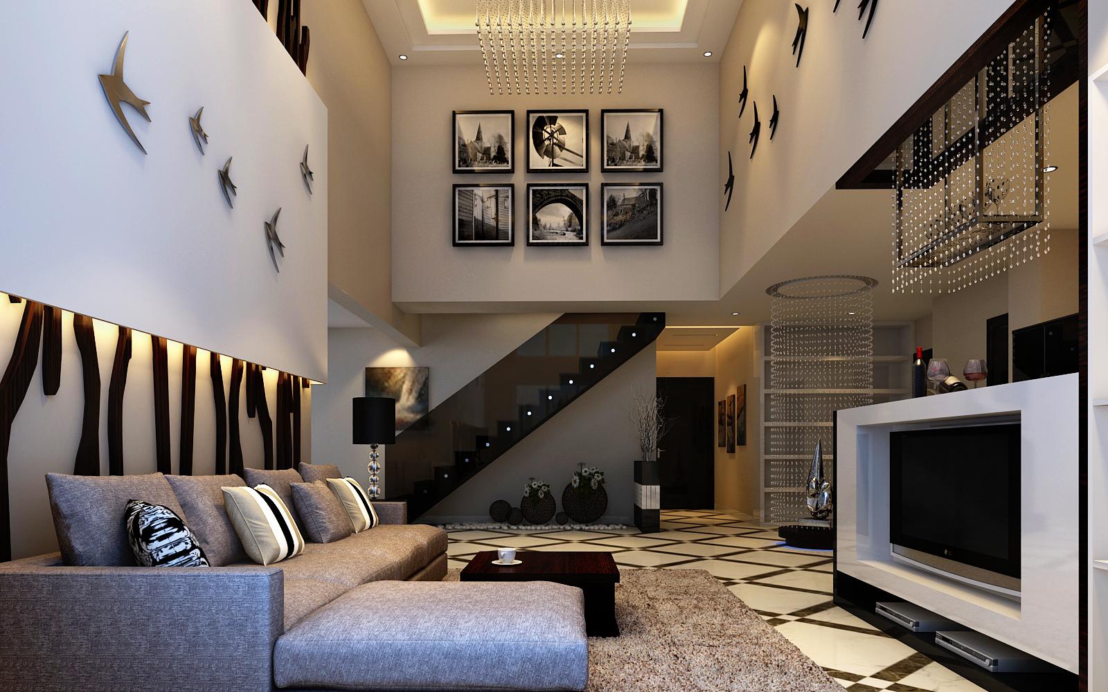 简约 别墅 客厅图片来自实创装饰上海公司在减法原则简约风格设计的分享