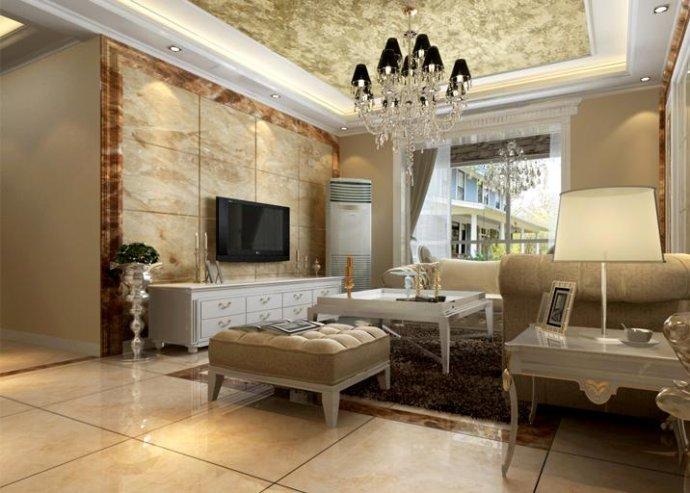棕榈泉 欧式 三居 家装 时尚 客厅图片来自郑州实创装饰啊静在棕榈泉110平欧式三居的分享