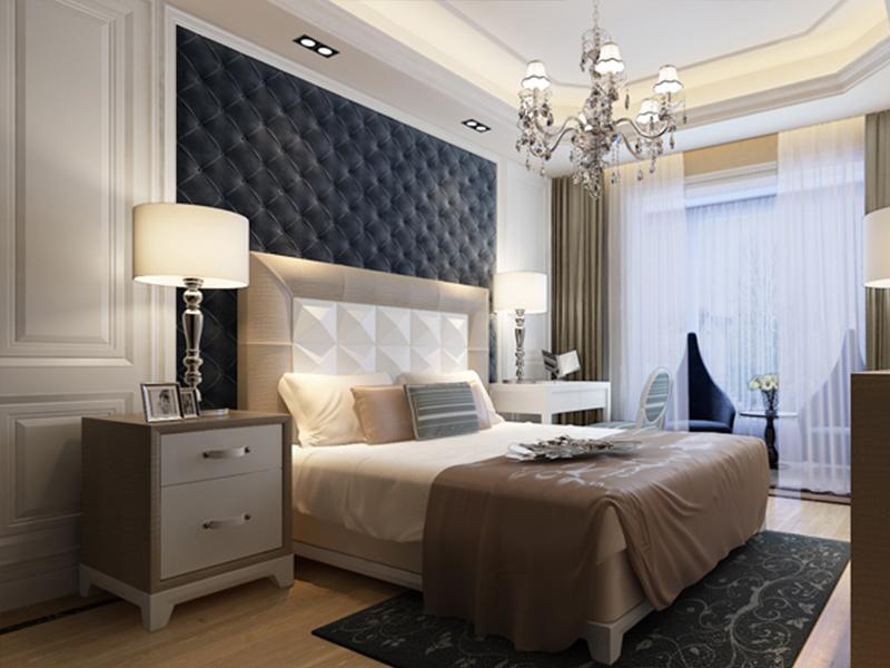 简约 三居 卧室图片来自青岛德隆装饰在现代-招商海德花园的分享