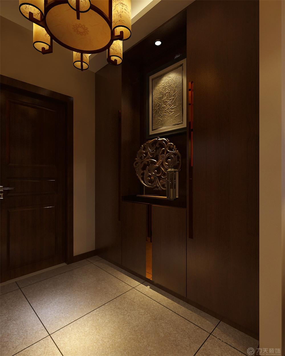 二居 新中式 白领 收纳 80后 小资 玄关图片来自阳光放扉er在金才园-91㎡-新中式风格的分享