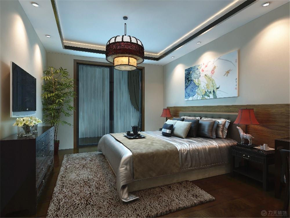 中式 三居 白领 收纳 简约 卧室图片来自阳光力天装饰在力天装饰-眼科医院家属院87㎡的分享