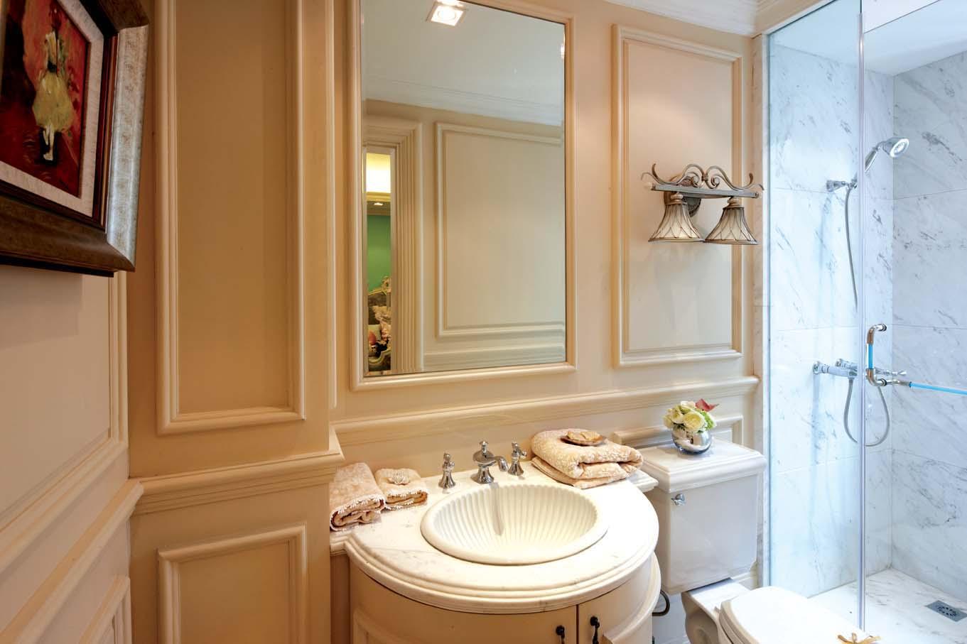 欧式风格 北京装修 装修风格 室内设计 装修设计 卫生间图片来自别墅装修设计yan在欧式风格鸿坤·林语墅的分享