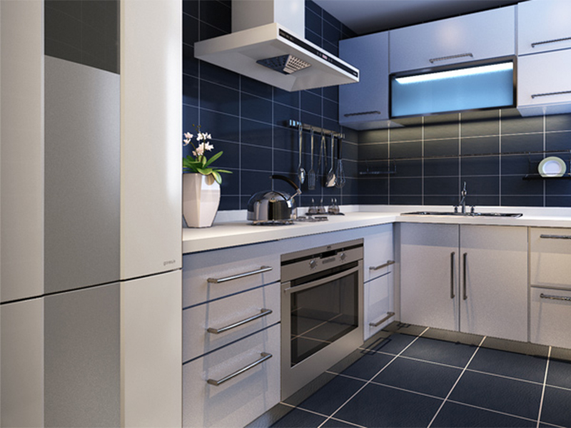 简约 三居 厨房图片来自青岛德隆装饰在现代-招商海德花园的分享