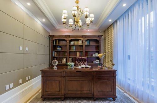 日升装饰 书房图片来自装修设计芳芳在金泰假日花城美式四居的分享