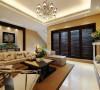 客厅装修设计以一些简约的造型为基础,添加了中式元素,使整体空间感觉更加丰富。