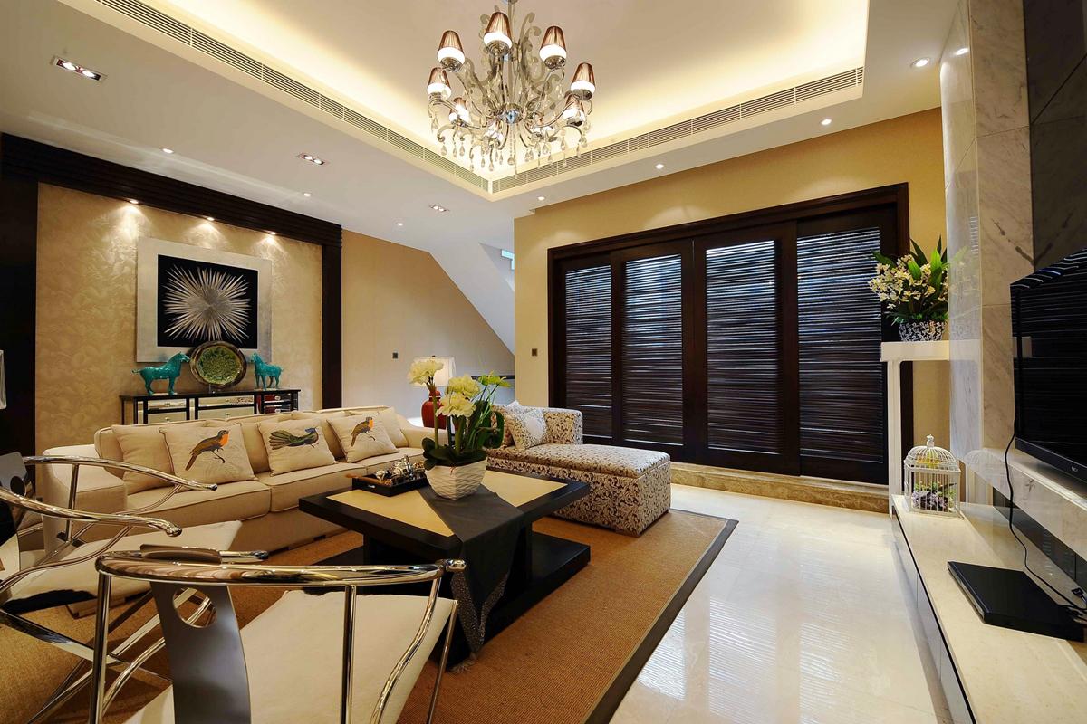 简约 别墅装修 软装配饰 方案设计 二手房 客厅图片来自北京别墅装修-紫禁尚品在世茂维拉中式风格装修设计的分享