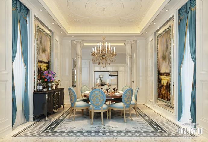 别墅 欧式 别墅生活 餐厅图片来自别墅装修尚层装饰王丽在远洋lavie专业别墅设计的分享