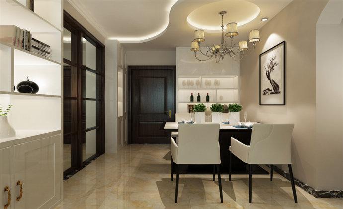 润城 现代 两居 家装 整体 餐厅图片来自郑州实创装饰啊静在润城89平现代两居的分享
