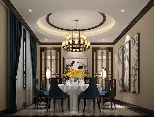 日升装饰 餐厅图片来自装修设计芳芳在汇林·U家公馆中式别墅的分享