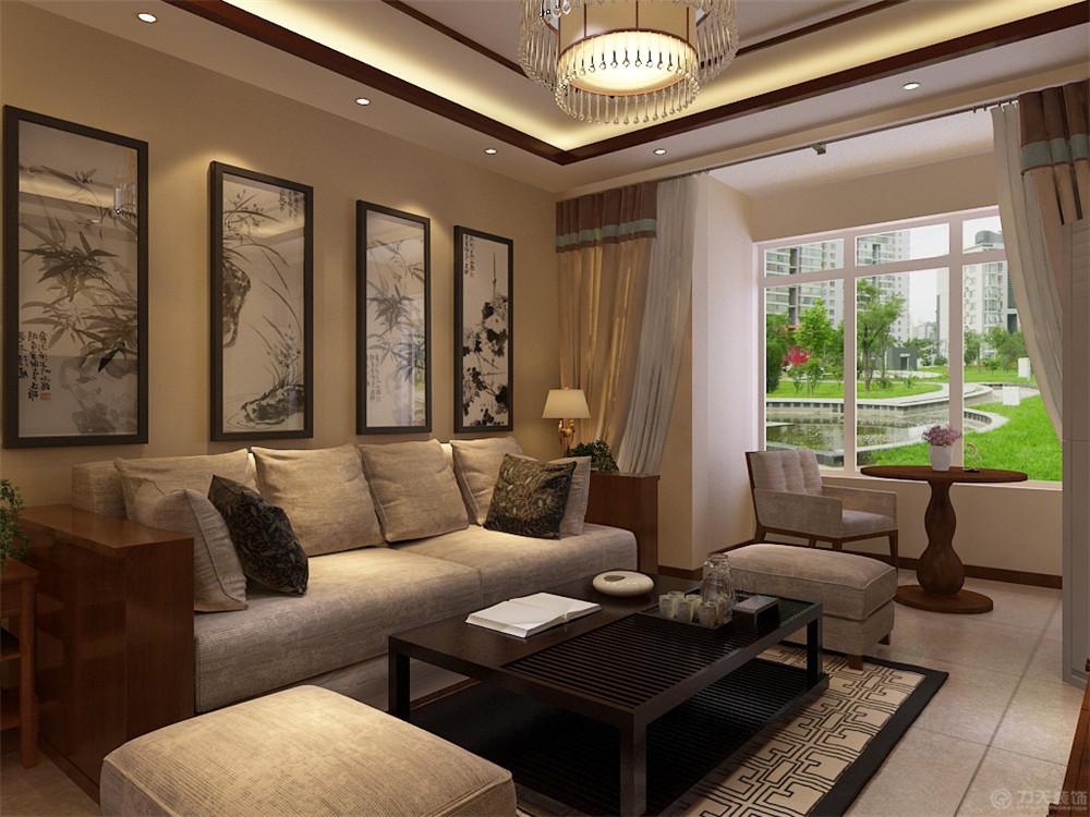 二居 新中式 白领 收纳 80后 小资 客厅图片来自阳光放扉er在金才园-91㎡-新中式风格的分享