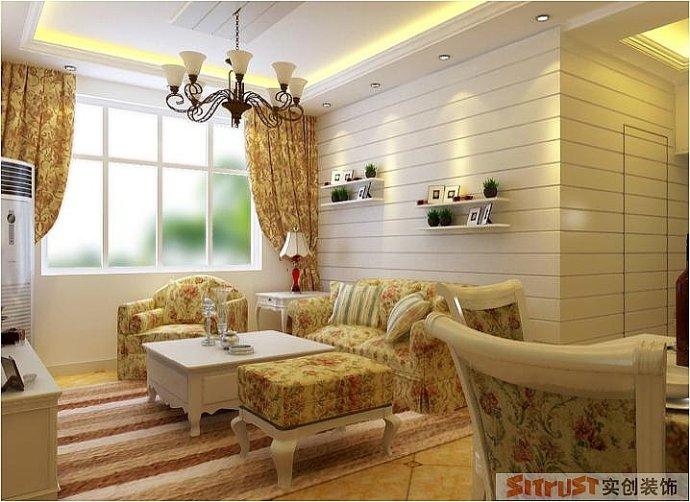 卢浮宫馆 韩式 田园 混搭 两居 客厅图片来自郑州实创装饰啊静在卢浮宫馆89平韩式田园两居的分享