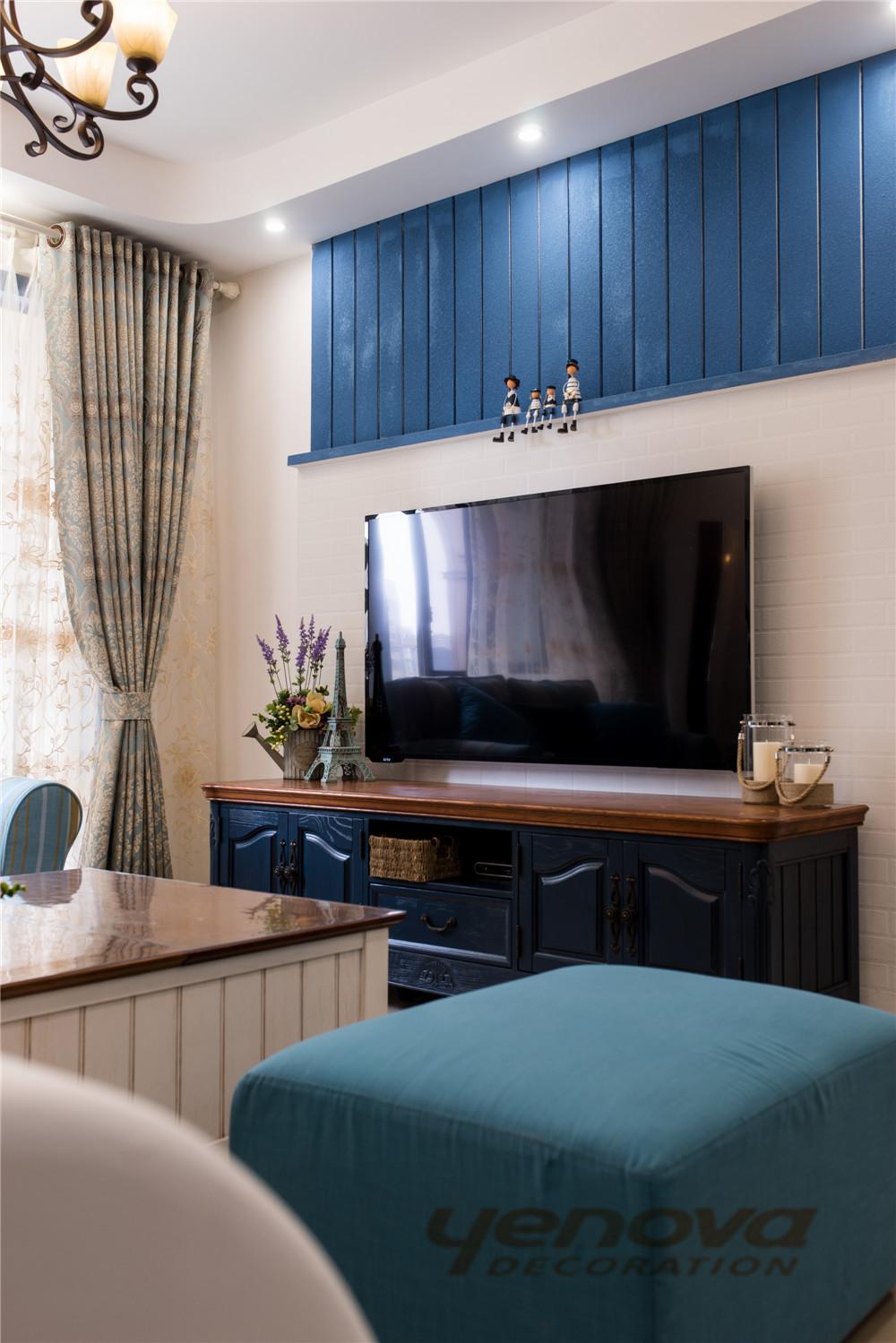客厅图片来自成都业之峰装修小管家在天府世家113平地中海风格的分享