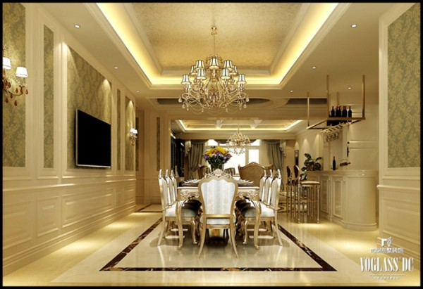 该别墅设计方案是尚层北京别墅装修公司第八设计中心设计师丁健远洋天著的一套案例。远洋天著位于北京市亦庄经济技术开发区。是北京东五环唯一在售的新古典主义欧式别墅社区。