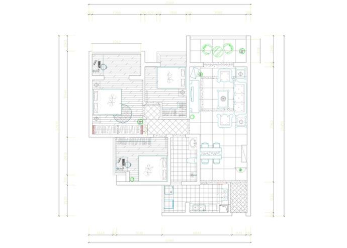 棕榈泉 欧式 三居 家装 时尚 户型图图片来自郑州实创装饰啊静在棕榈泉110平欧式三居的分享