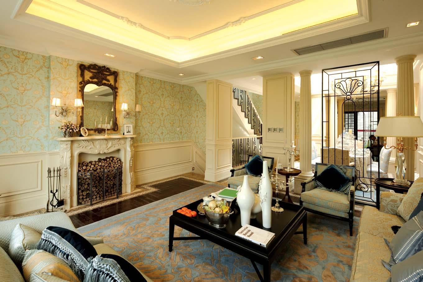 欧式风格 北京装修 装修风格 室内设计 装修设计 客厅图片来自别墅装修设计yan在欧式风格鸿坤·林语墅的分享
