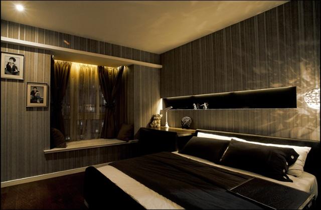 简约 混搭 三居 白领 收纳 旧房改造 卧室图片来自紫禁尚品国际装饰公司在现代简约首开香溪郡公寓设计的分享