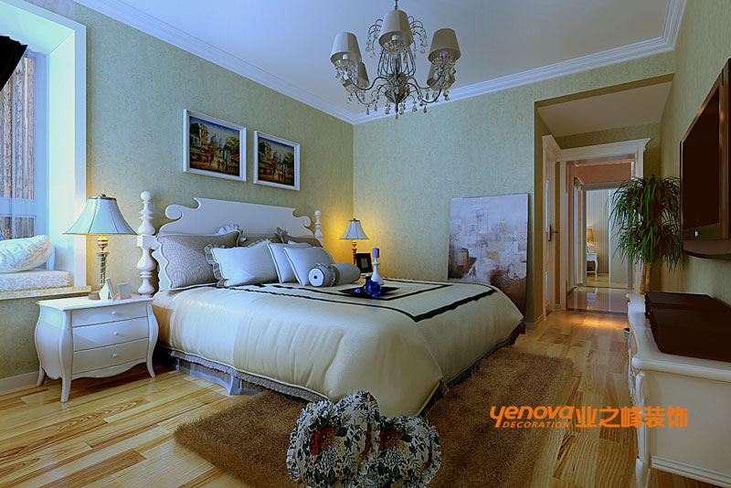 三居 欧式风格 效果图 兰州业之峰 装修公司 卧室图片来自兰州业之峰装饰--赵琴在银滩雅苑欧式风格的分享