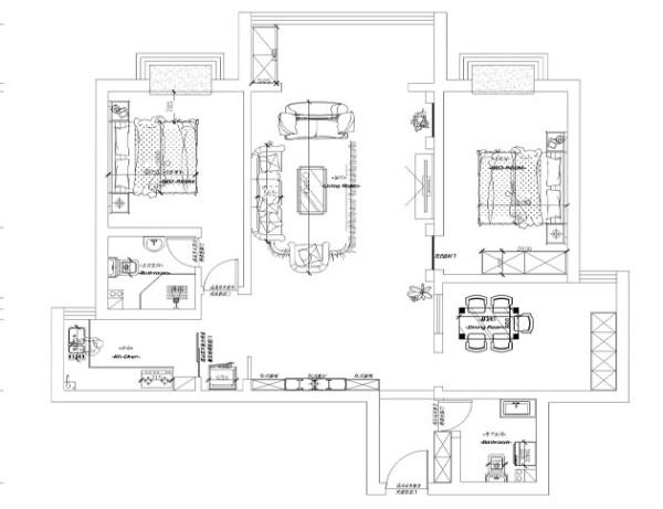 银珠家园133户型平面布局图
