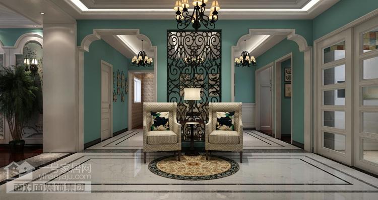 美地家园 美式风格 复式 一号家居网 客厅图片来自武汉一号家居在美地家园220平复式美式风格设计的分享
