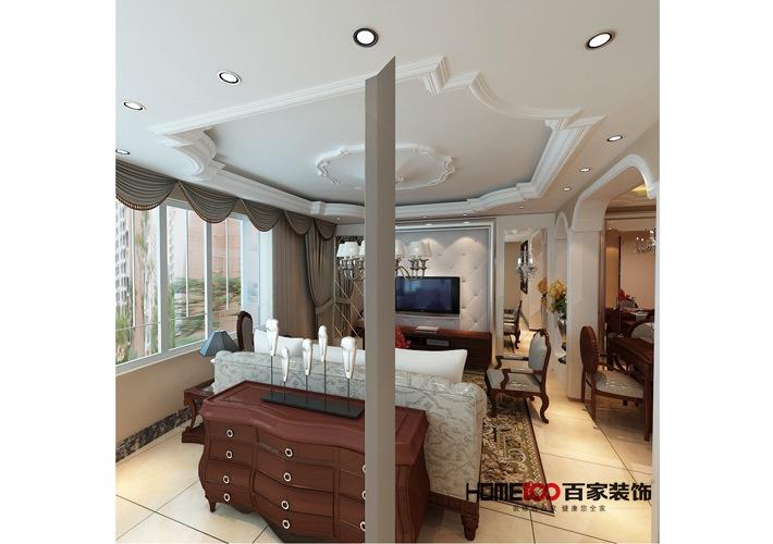 客厅 卧室 三居 收纳 白领 客厅图片来自百家装饰杨乐乐在美式风格的分享