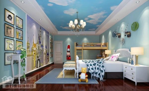 美地家园220平旧房改造儿童房效果图