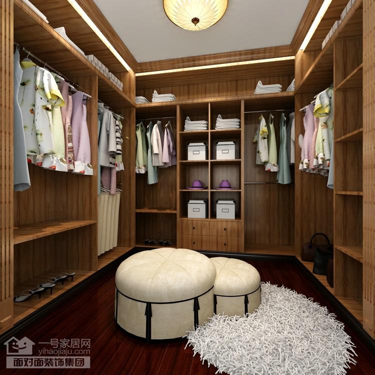 美地家园 美式风格 复式 一号家居网 衣帽间图片来自武汉一号家居在美地家园220平复式美式风格设计的分享