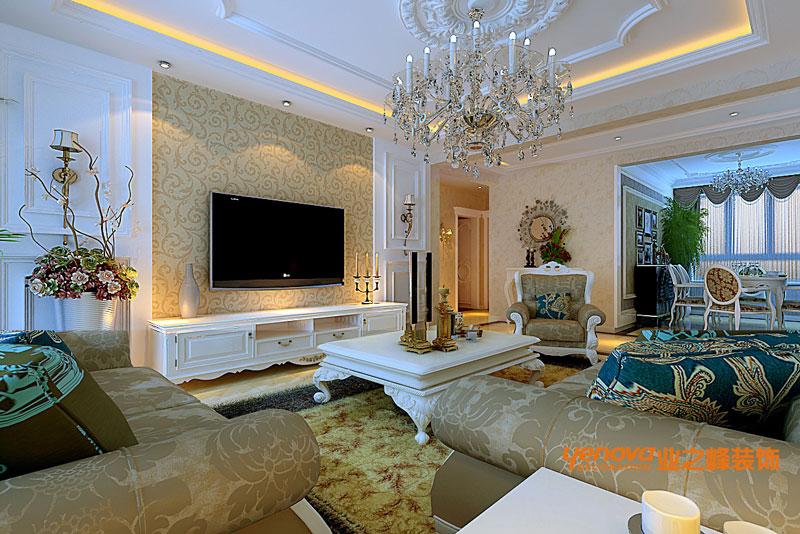 三居 欧式风格 效果图 兰州业之峰 装修公司 客厅图片来自兰州业之峰装饰--赵琴在银滩雅苑欧式风格的分享