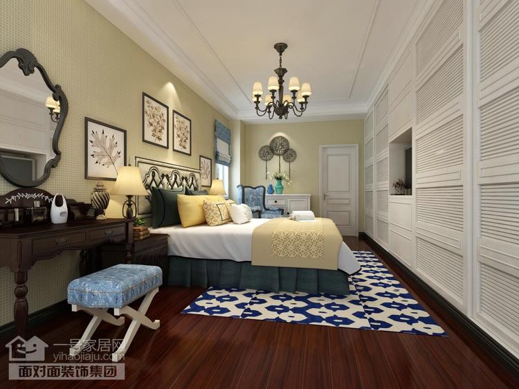 美地家园 美式风格 复式 一号家居网 卧室图片来自武汉一号家居在美地家园220平复式美式风格设计的分享