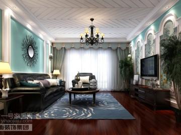 美地家园220平复式美式风格设计