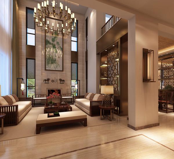 设计主题:汲取中式风格文化的精髓,结合现代主义的设计手法与元素,为新骑士打造出典雅、奢华、内敛的生活空间。