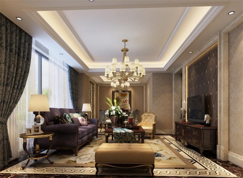 客厅图片来自峰上大宅装饰长沙在第六都-法式风格的分享